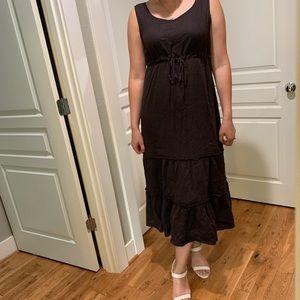 Lands' End Dresses - Lands end linen maxi dress with drawstring as L